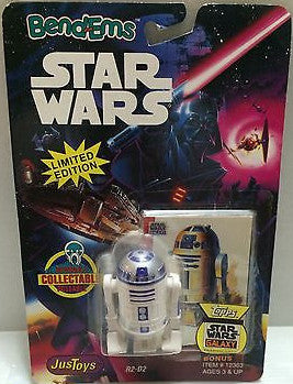 (TAS000595) - Star Wars Bend-Ems JusToys R2-D2, , Action Figure, Star Wars, The Angry Spider Vintage Toys & Collectibles Store