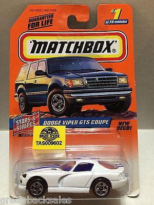 (TAS009602) - Matchbox Cars - Dodge Viper GTS Coupe, , Cars, Matchbox, The Angry Spider Vintage Toys & Collectibles Store