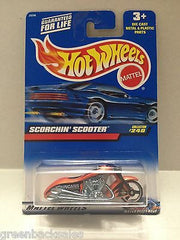 (TAS010266) - 2000 Mattel Hot Wheels Die Cast Replica - Scorchin' Scooter, , Trucks & Cars, Hot Wheels, The Angry Spider Vintage Toys & Collectibles Store  - 1
