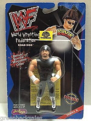 (TAS008425) - WWF WWE WCW Wrestling JusToys Bend-Ems Action Figure - Road Dogg, , Action Figure, Wrestling, The Angry Spider Vintage Toys & Collectibles Store