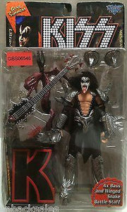 (TAS031386) - McFarlane Toy Kiss Band Action Figure - Gene Simmons with Ax Bass, , Action Figure, McFarlane Toys, The Angry Spider Vintage Toys & Collectibles Store