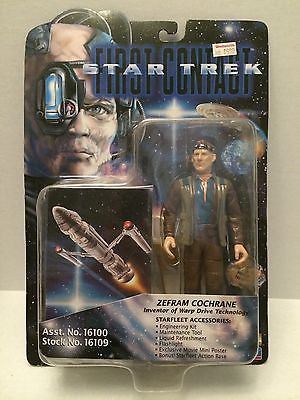 (TAS001002) - Star Trek First Contact Figure - Zefram Cochrane, , Action Figure, Star Trek, The Angry Spider Vintage Toys & Collectibles Store