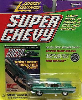 (TAS006722) - Johnny Lightning Die-Cast Super Chevy - 1957 Chevy Bel Air, , Trucks & Cars, Johnny Lightning, The Angry Spider Vintage Toys & Collectibles Store