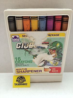 (TAS004602) - G.I. Joe 16 Crayons Built In Sharpener, , crayons, G.I Joe, The Angry Spider Vintage Toys & Collectibles Store