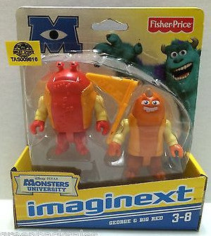 (TAS009616) - Disney Pixar Monsters University - Imaginext - George & Big Red, , Action Figure, Disney, The Angry Spider Vintage Toys & Collectibles Store