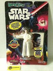(TAS000597) - 1993 JusToys Star Wars Bend-Ems Figure Princess Leia, , Action Figure, Star Wars, The Angry Spider Vintage Toys & Collectibles Store