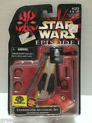(TAS008324) - Hasbro Star Wars Episode 1 Underwater Accessory Set, , Action Figure, Star Wars, The Angry Spider Vintage Toys & Collectibles Store