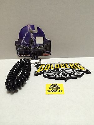 (TAS003172) - WWE WWF WCW nWo Wrestling Key Chain - Goldberg Key Ring, , Key Chain, Wrestling, The Angry Spider Vintage Toys & Collectibles Store