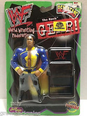 (TAS008388) - WWF WWE WCW nWo Wrestling JusToys Bend-Ems Gear! Figure - The Rock, , Action Figure, Wrestling, The Angry Spider Vintage Toys & Collectibles Store