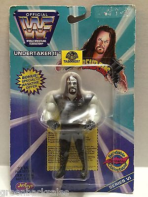 (TAS008237) - WWF WWE WCW nWo Wrestling JusToys Bend-Ems Figure - Undertaker II, , Action Figure, Wrestling, The Angry Spider Vintage Toys & Collectibles Store