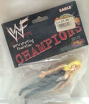 (TAS008044) - WWF WWE WCW Wrestling JusToys Bend-Ems Champions Figure - Sable, , Action Figure, Wrestling, The Angry Spider Vintage Toys & Collectibles Store
