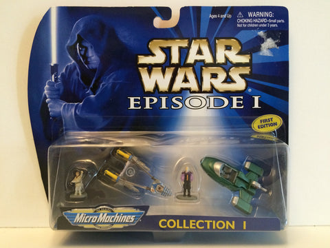 (TAS030002) - 1998 Galoob Micro Machines Star Wars Episode I Collection I, , Action Figure, Star Wars, The Angry Spider Vintage Toys & Collectibles Store  - 1