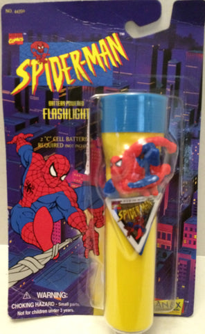 (TAS031983) - Janex Marvel Comics Spider-Man Flashlight, , Flashlight, Spiderman, The Angry Spider Vintage Toys & Collectibles Store