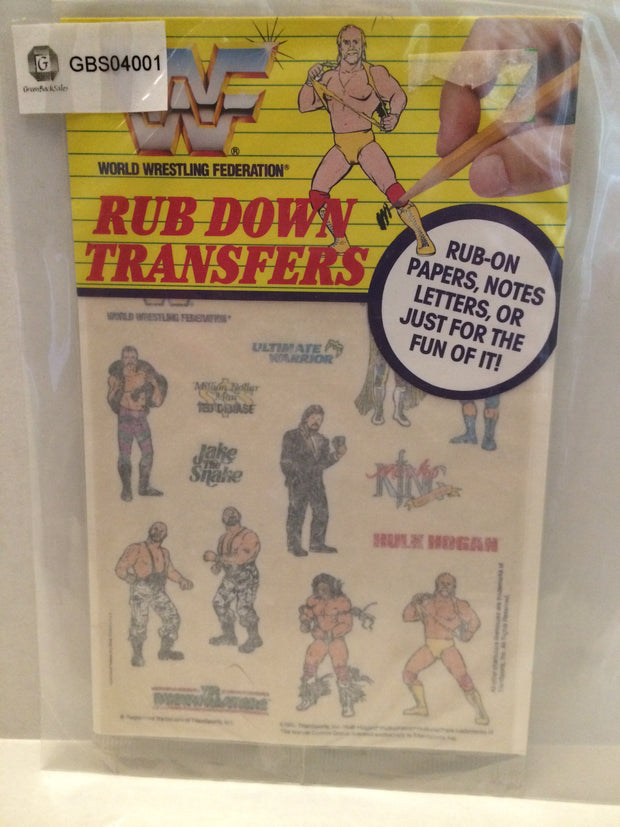 (TAS031961) - 1991 Titan Sports Wrestling Rub Down Transfers - Hulk Hogan, , Stickers, Wrestling, The Angry Spider Vintage Toys & Collectibles Store