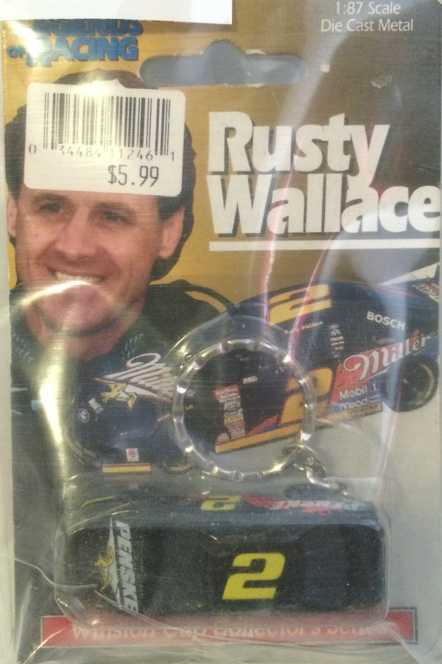 (TAS031482) - Legends of Racing Die-Cast Key Chain - Rusty Wallace #2, , Keychain, Nascar, The Angry Spider Vintage Toys & Collectibles Store