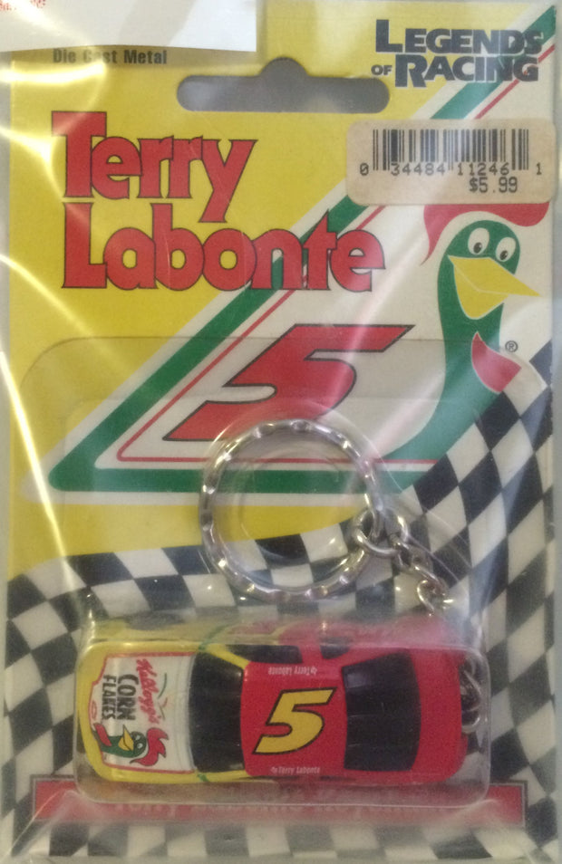 (TAS031483) - Legends of Racing Die-Cast Key Chain - Terry LaBonte #5, , Keychain, Nascar, The Angry Spider Vintage Toys & Collectibles Store