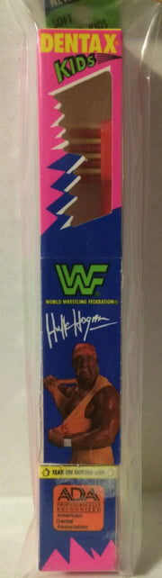 (TAS031490) WWF WWE WCW nWo Wrestling Dentax Kids Toothbrush - Hulk Hogan, , Bath, Wrestling, The Angry Spider Vintage Toys & Collectibles Store