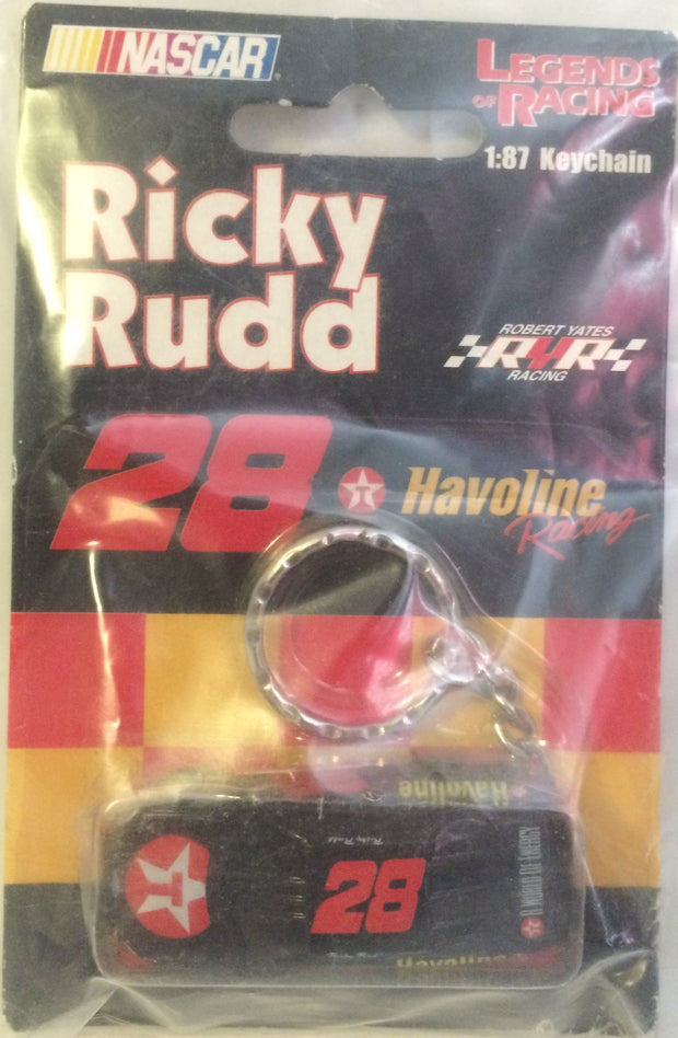 (TAS031493) - NASCAR Legends of Racing Key Chain - Ricky Rudd #28, , Keychain, Nascar, The Angry Spider Vintage Toys & Collectibles Store
