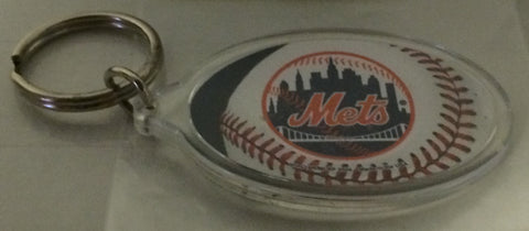 (TAS030258) - MLB - New York Mets Plastic Oval Keychain, , Key Chain, MLB, The Angry Spider Vintage Toys & Collectibles Store