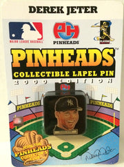 (TAS032093) - 2000 PinHeads MLB Lapel Pin - New York Yankees Derek Jeter, , Pins, MLB, The Angry Spider Vintage Toys & Collectibles Store