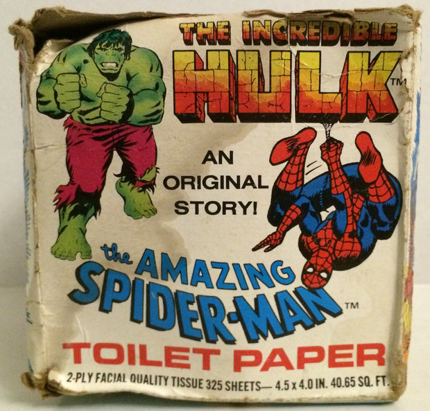 (TAS031975) - Marvel The Incredible Hulk & Amazing Spider-Man Toilet Paper, , Bath, Marvel, The Angry Spider Vintage Toys & Collectibles Store
