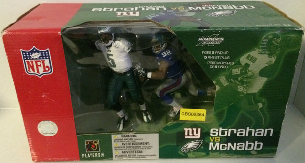 (TAS031499) - NFL McFarlane's Sports Picks Figures - Strahan vs McNabb, , Action Figure, NFL, The Angry Spider Vintage Toys & Collectibles Store