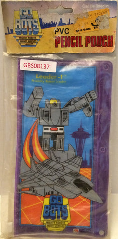 (TAS031979) - Vintage GoBots Mighty Robots PVC Pencil Pouch, , Pencils, GoBots, The Angry Spider Vintage Toys & Collectibles Store