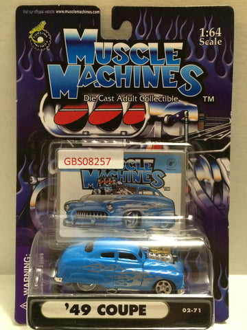 (TAS030804) - Muscle Machines Die Cast Collectible 1:64 Scale – '49 Coupe, , Cars, Muscle Machines, The Angry Spider Vintage Toys & Collectibles Store