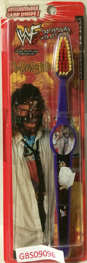 (TAS031502) - 1999 WWE WWF LJN Wrestling Toothbrush - ManKind, , Bath, Wrestling, The Angry Spider Vintage Toys & Collectibles Store