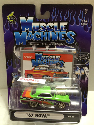 (TAS030819) - Muscle Machines Die Cast Collectible 1:64 Scale – '67 Nova, , Cars, Muscle Machines, The Angry Spider Vintage Toys & Collectibles Store