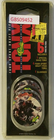 "(TAS031503) - 1993 Tonix ""The Milk Cap Game"" 6 Per Pack - Hockey, , Game, NHL, The Angry Spider Vintage Toys & Collectibles Store"