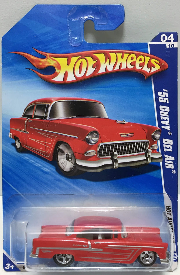 Tas037009 Mattel Hot Wheels Die Cast Car 55 Chevy Bel Air 04