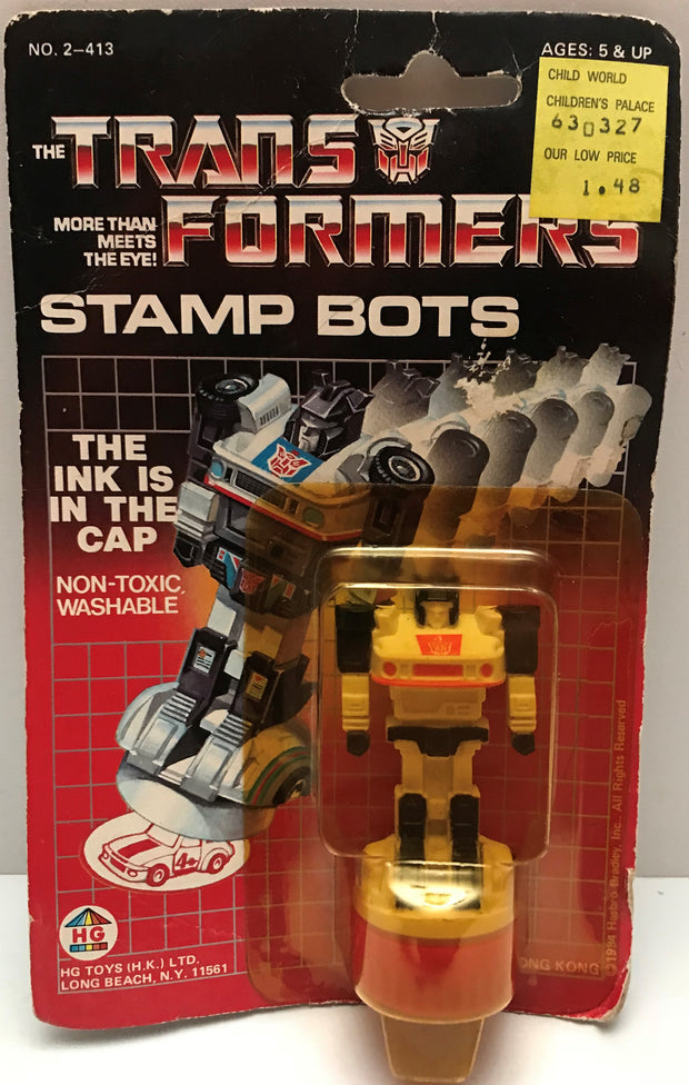 TAS037760 - 1984 HG Toys Hasbro The Transformers Stamp Bots