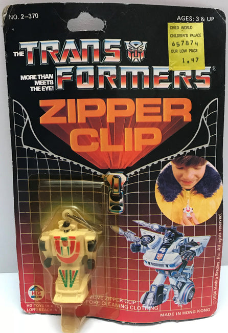 TAS037761 - 1984 HG Toys The Transformers Zipper Clip