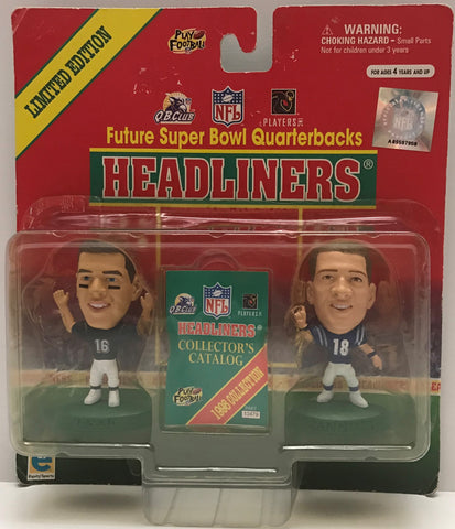 TAS037820 - 1999 Headliners NFL Super Bowl Quarterbacks Manning & Leaf