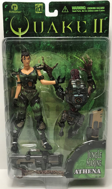 TAS040217 - 1998 ReSaurus Quake II Action Figure - Jungle Marine Athena