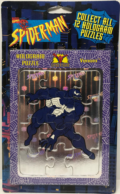 TAS040219 - 1996 Marvel Comics Spider-Man Hologram Puzzle - Venom