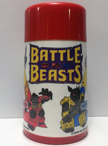 (TAS034707) - 1986 Aladdin Red Hasbro Battle Beasts Thermo Cup, , Drinkware, Aladdin, The Angry Spider Vintage Toys & Collectibles Store  - 1