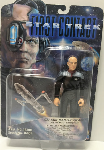 (TAS034737) - 1996 Playmates Star Trek First Contact Captain Jean-Luc Picard, , Action Figure, Star Trek, The Angry Spider Vintage Toys & Collectibles Store  - 1