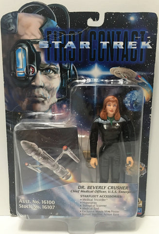 (TAS034733) - 1996 Playmates Star Trek First Contact Figure Dr. Beverly Crusher, , Action Figure, Star Trek, The Angry Spider Vintage Toys & Collectibles Store  - 1