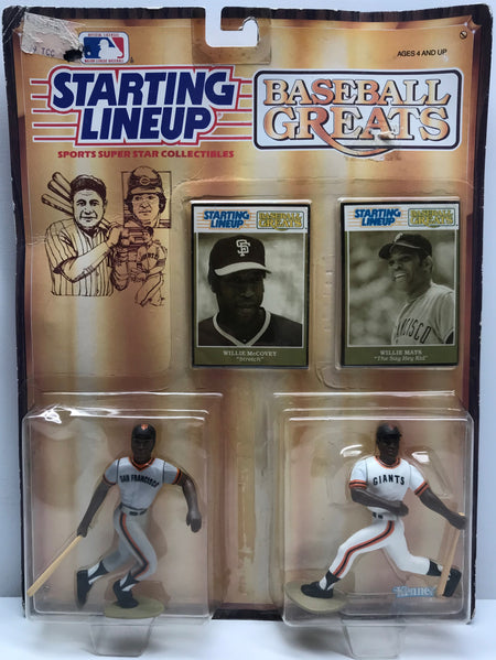 TAS038012 - 1989 Kenner Starting Lineup MLB McCovey & Mays