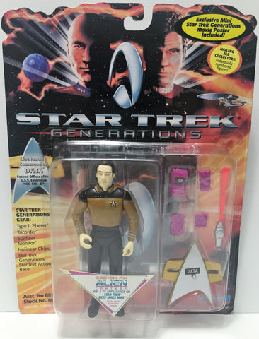 (TAS034751) - 1994 Playmates Star Trek Generations Figure - Lt. Commander Data, , Action Figure, Star Trek, The Angry Spider Vintage Toys & Collectibles Store  - 1