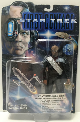 (TAS034749) - 1996 Playmates Star Trek First Contact Figure - Lt. Commander Worf, , Action Figure, Star Trek, The Angry Spider Vintage Toys & Collectibles Store  - 1