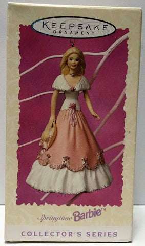 (TAS034839) - 1997 Hallmark Cards Keepsake Springtime Barbie Ornament, , Ornament, Hallmark, The Angry Spider Vintage Toys & Collectibles Store  - 1
