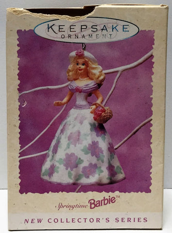 (TAS034837) - 1995 Hallmark Cards Keepsake Springtime Barbie Ornament, , Ornament, Hallmark, The Angry Spider Vintage Toys & Collectibles Store  - 1
