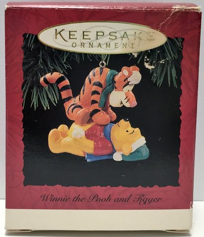 (TAS034840) - Hallmark Cards Keepsake Winnie the Pooh and Tigger Ornament, , Ornament, Hallmark, The Angry Spider Vintage Toys & Collectibles Store  - 1