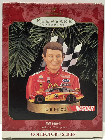 (TAS034859) - 1999 Hallmark Cards Keepsake NASCAR Ornament - Bill Elliott, , Ornament, Hallmark, The Angry Spider Vintage Toys & Collectibles Store  - 1
