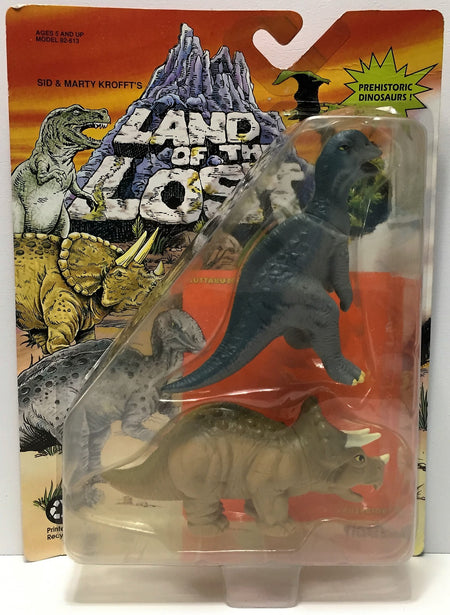 (TAS034842) - 1992 Tiger Toys Land of the Lost - Muttaburrasaurus & Triceratops, , Action Figure, Tiger Toys, The Angry Spider Vintage Toys & Collectibles Store  - 1