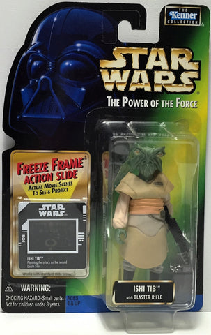 (TAS034787) - 1997 Hasbro Star Wars The Power of the Force Figure - Ishi Tib, , Action Figure, Star Wars, The Angry Spider Vintage Toys & Collectibles Store  - 1
