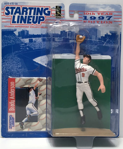 (TAS034796) - 1997 Hasbro Starting Lineup Figure - MLB Baseball Brady Anderson, , Action Figure, Starting Lineup, The Angry Spider Vintage Toys & Collectibles Store  - 1
